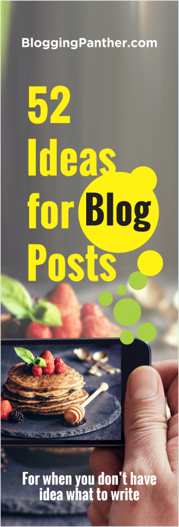52 Ideas for blog posts
